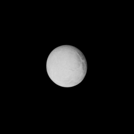 Voyager 1's best view of Enceladus