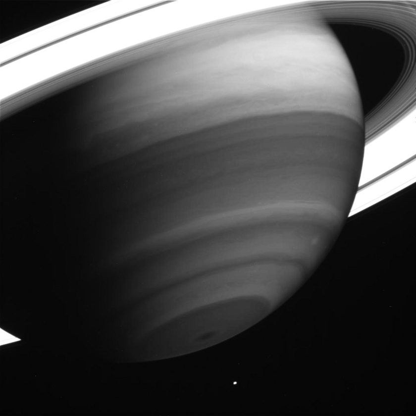 Saturn Seen Through Methane Band Filter