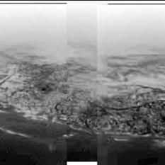 "Huygens DISR panoramic view of Titan ""shoreline"""