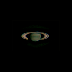 Cassini's first color view of Saturn