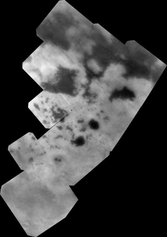 Bird's eye view of Titan's Land of Lakes