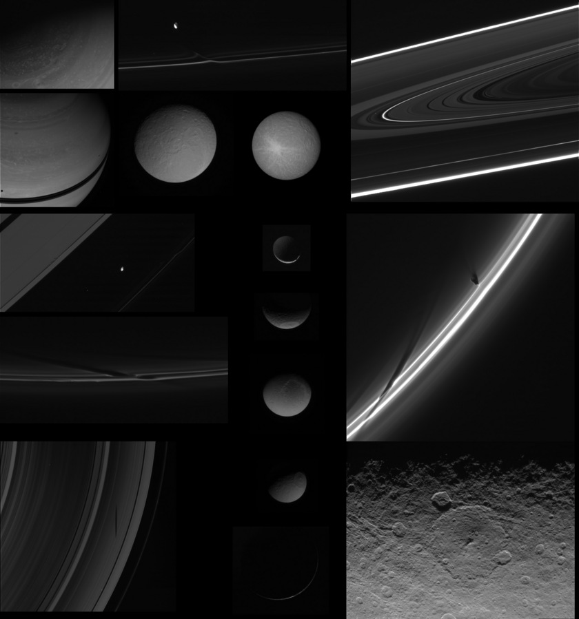 Highlights from the January 1, 2010 Cassini ISS PDS release