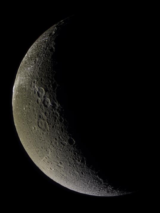 Crescent Dione in false color