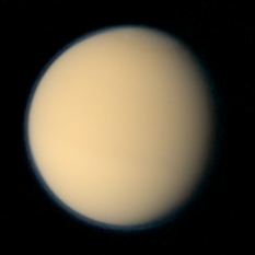 Voyager 2 approach image of Titan