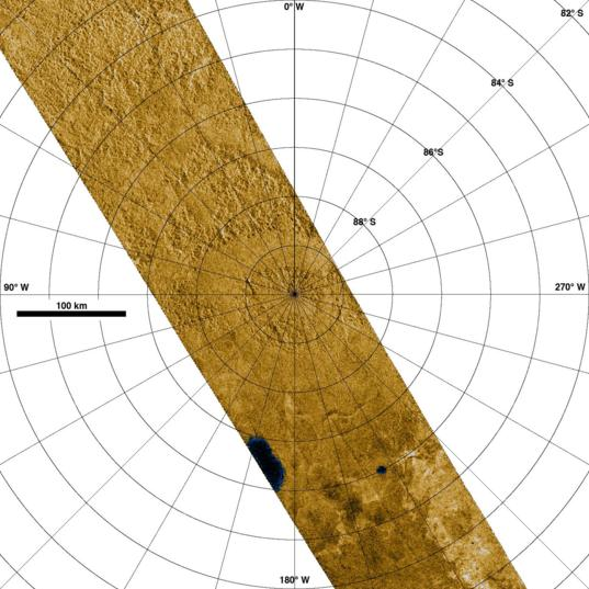Titan's south pole