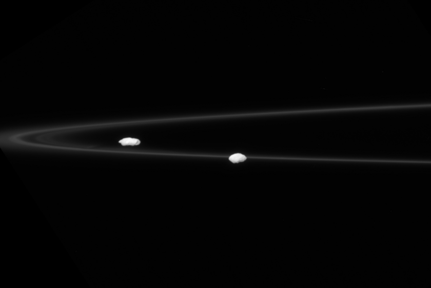 Prometheus and Pandora and the F ring