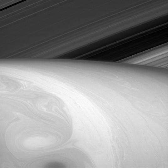 Bent rings and swirling clouds