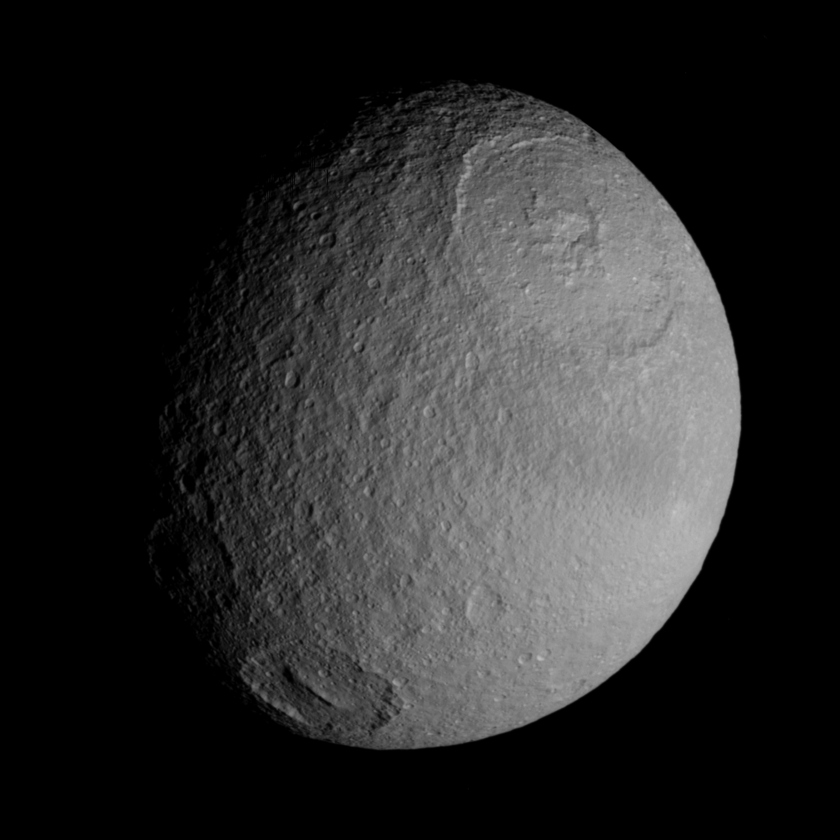 Tethys' anti-Saturn side