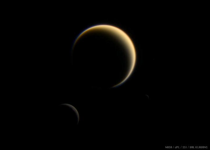 Titan, Rhea, Mimas
