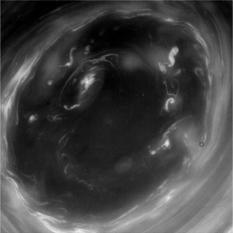 The eye of Saturn's south polar vortex