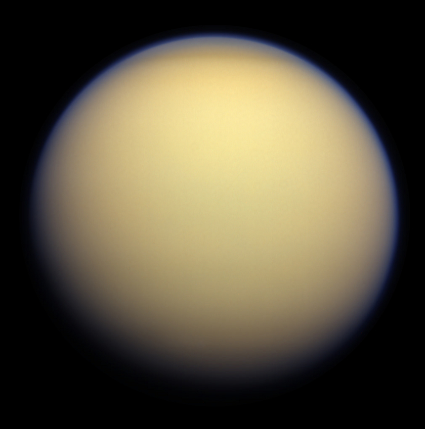 Before & After: Titan above and below the atmosphere