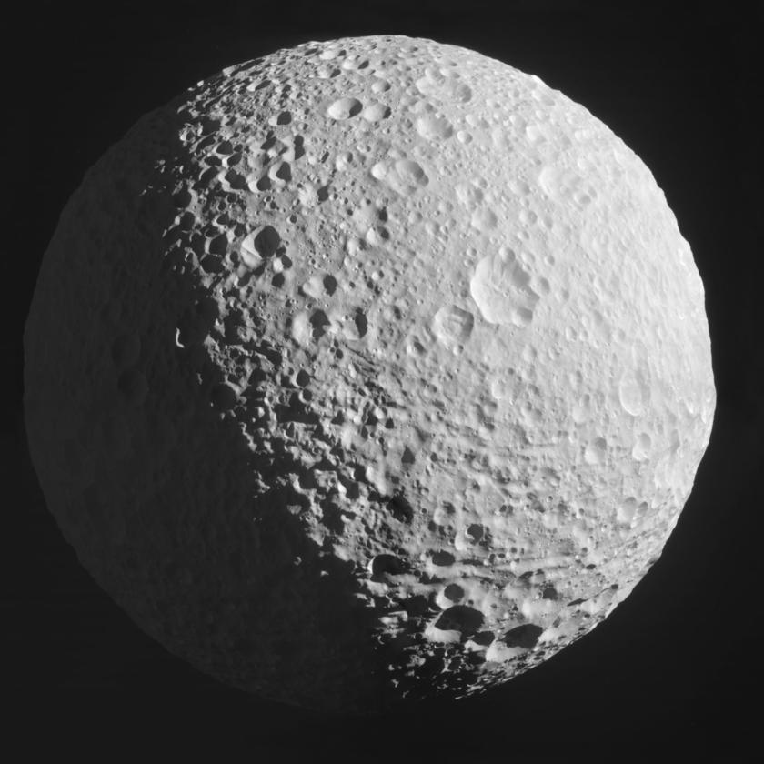 Gibbous Mimas