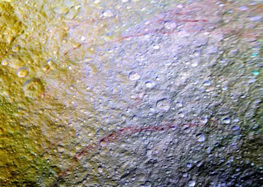 Red arcs on Tethys