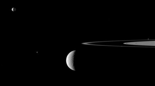 Four moons and a ring (8 November 2009)