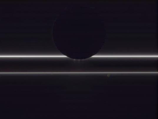 Enceladus, Pandora, and the F ring