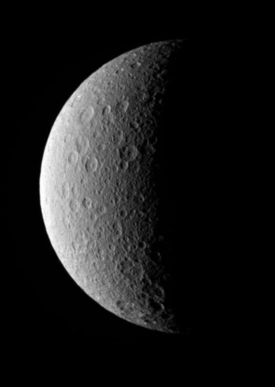 Rhea crescent, 13 October 2009
