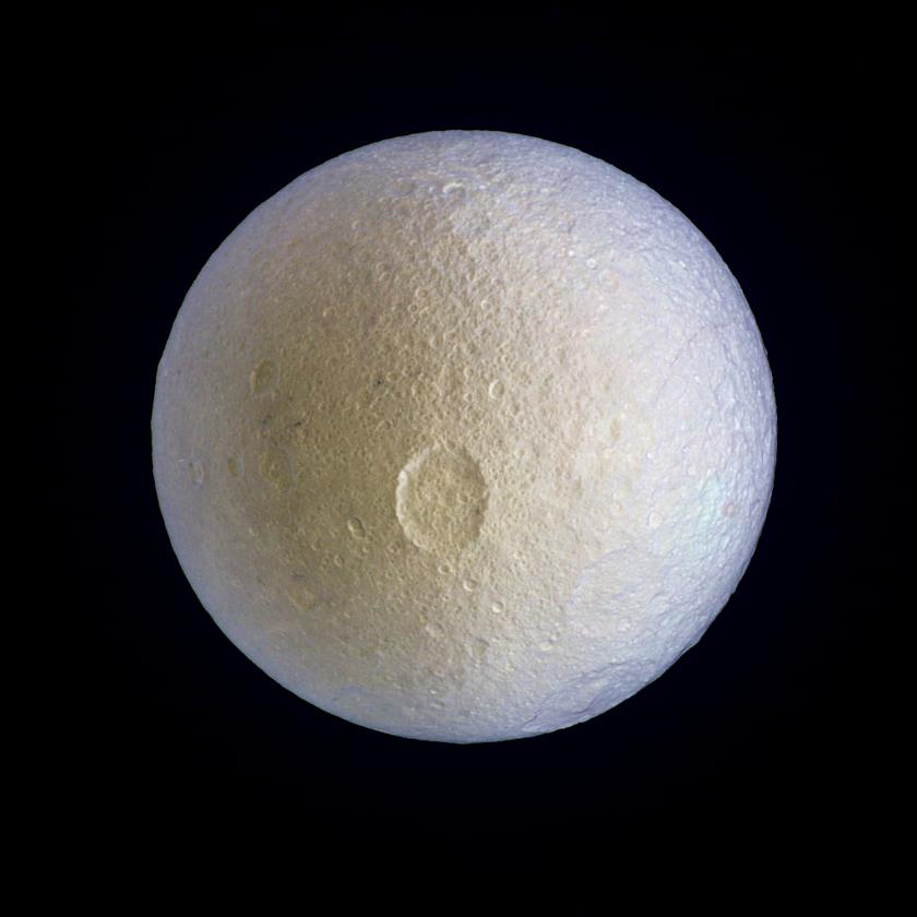Tethys in enhanced color