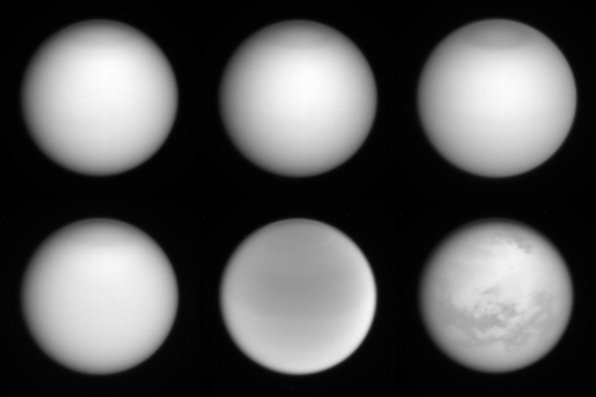 Titan through different Cassini filters