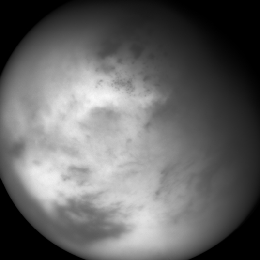 Cassini view of Titan on 6 March 2014