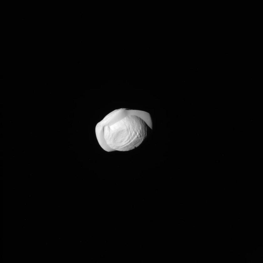 Saturn's moon Pan (closeup 1)