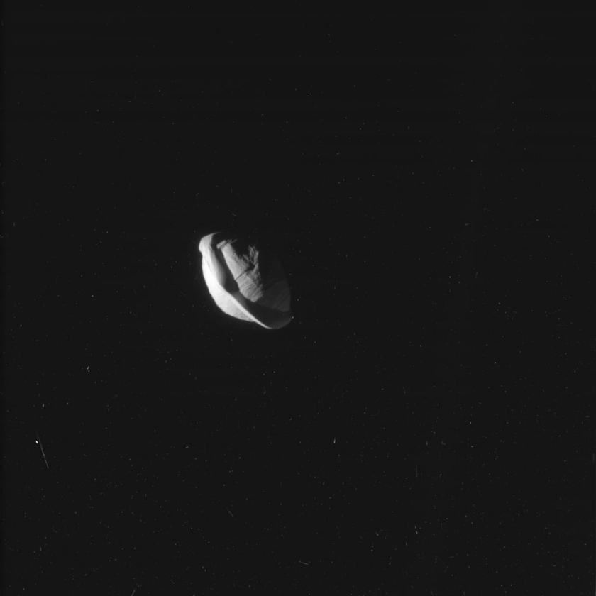 Saturn's moon Pan (closeup 2)