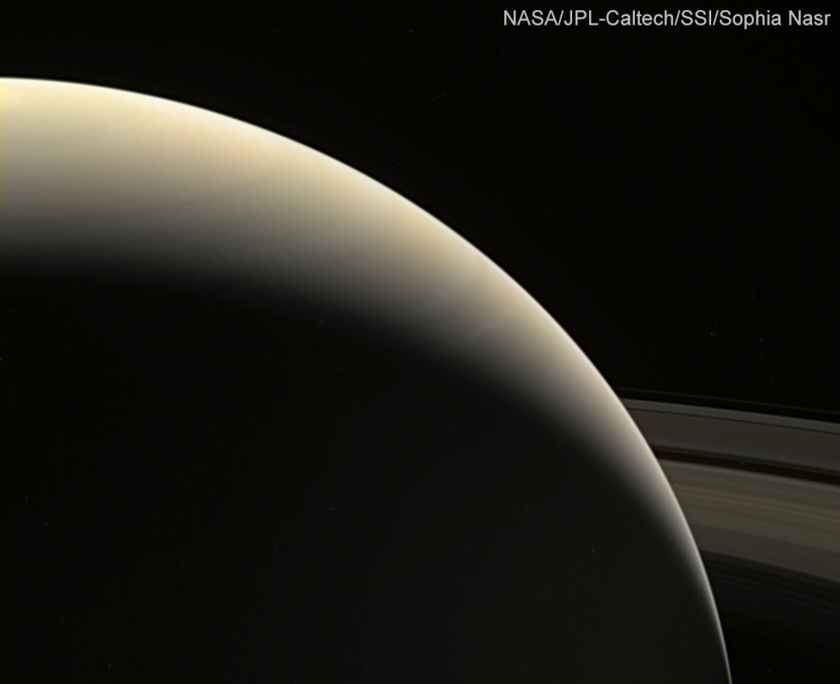 Saturn on August 31, 2017 from Cassini