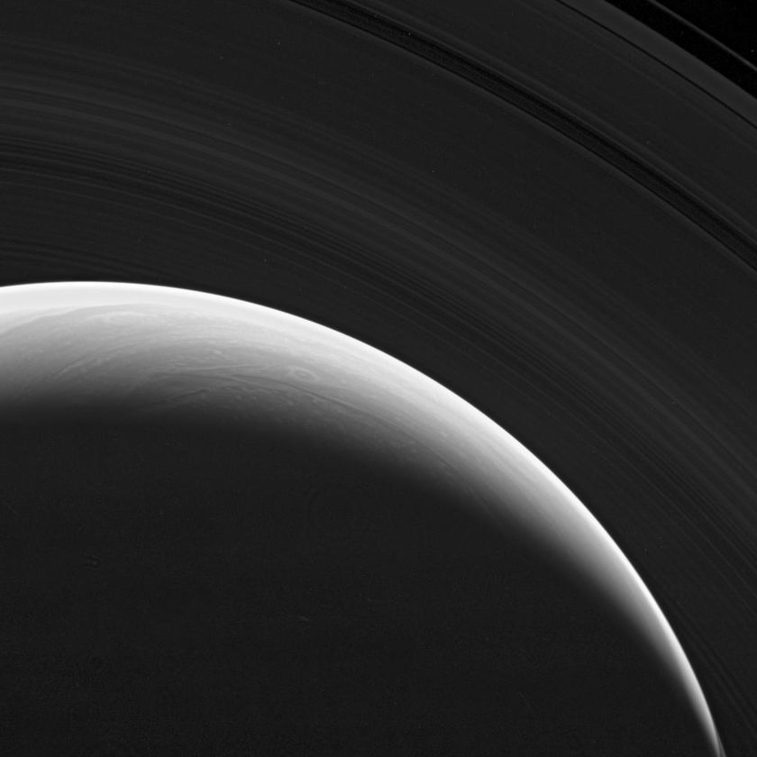 Saturn separated from its rings