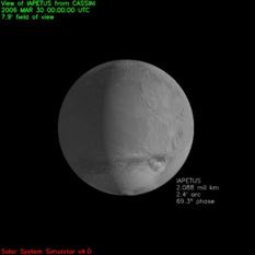Iapetus as seen from Cassini on March 30, 2006