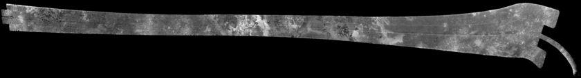 Cassini RADAR swath on Titan, flyby Ta, October 26, 2004