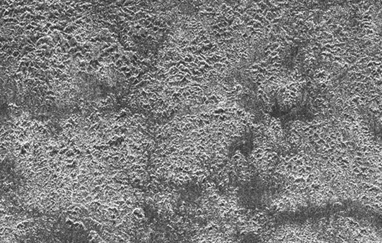 Mountainous terrain in central Xanadu, Titan
