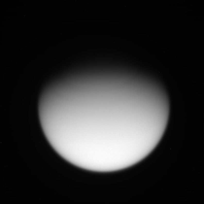 Global view of Titan through the MT1 filter