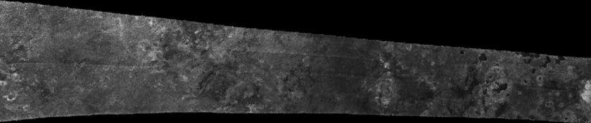 Cassini RADAR swath on Titan, flyby T16, July 22, 2006 (section 2 of 5)
