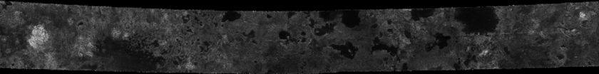 Cassini RADAR swath on Titan, flyby T16, July 22, 2006 (section 3 of 5)