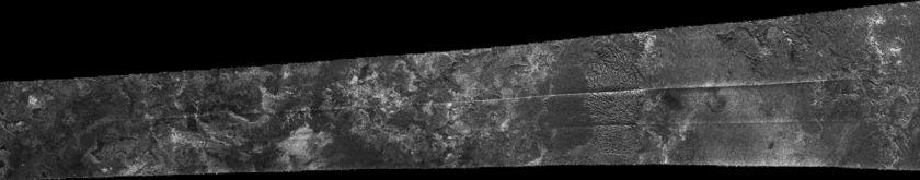 Cassini RADAR swath on Titan, flyby T16, July 22, 2006 (section 4 of 5)