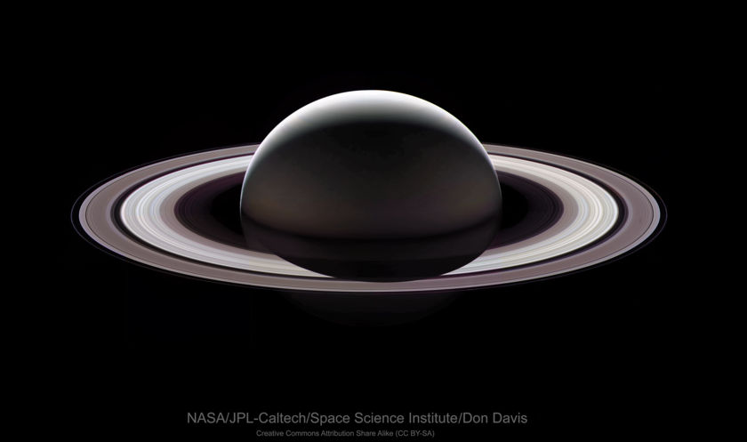 The last look at Saturn from the Cassini spacecraft