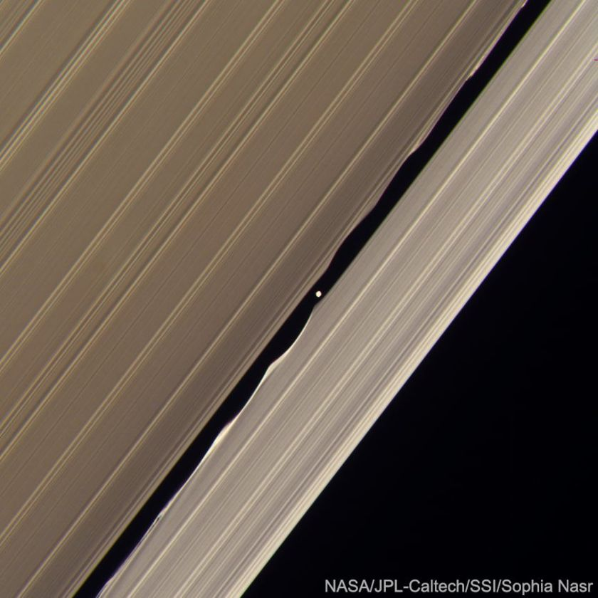Daphnis making waves in Saturn's rings