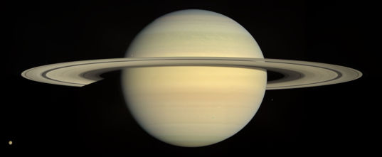 Natural color global view of Saturn and its rings