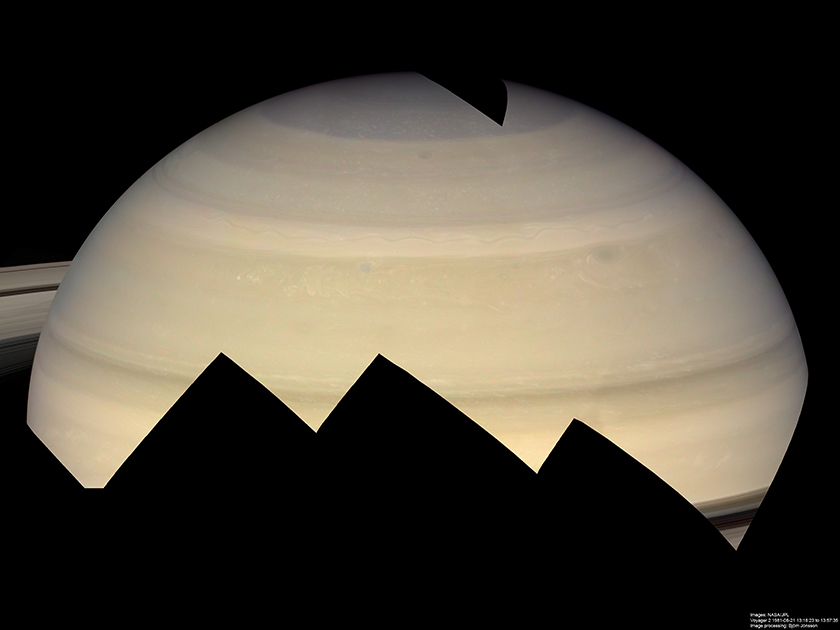Saturn's northern hemisphere from Voyager