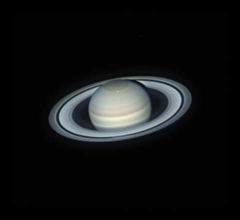 Saturn on March 29, 2018: a new storm