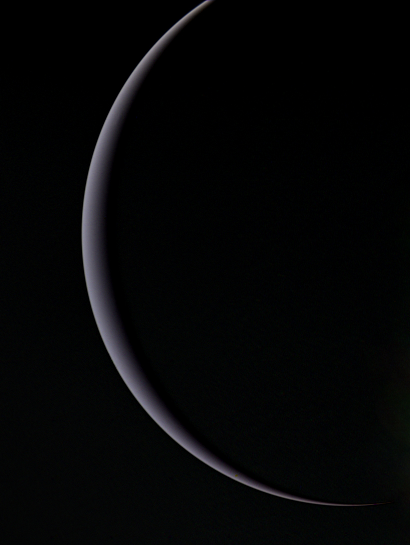 Uranus' crescent, January 25, 1986