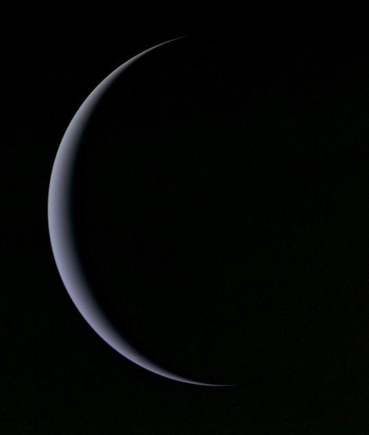 Uranus' crescent, February 1, 1986