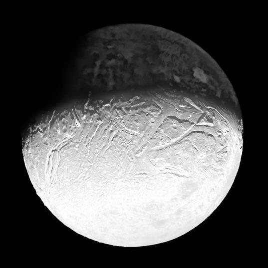 Voyager 2 view of Ariel: night-side enhanced