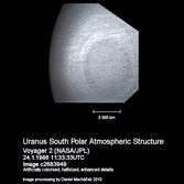 Uranus South Polar Atmospheric Structure