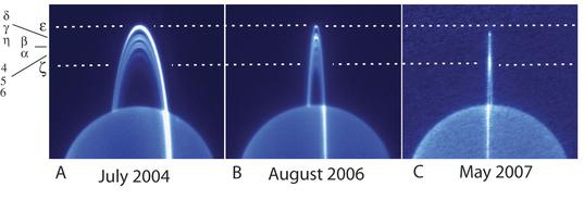 IR Keck images of Uranus ring crossing