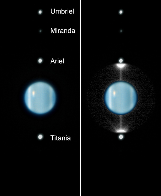 VLT image of Uranus Ring Plane Crossing