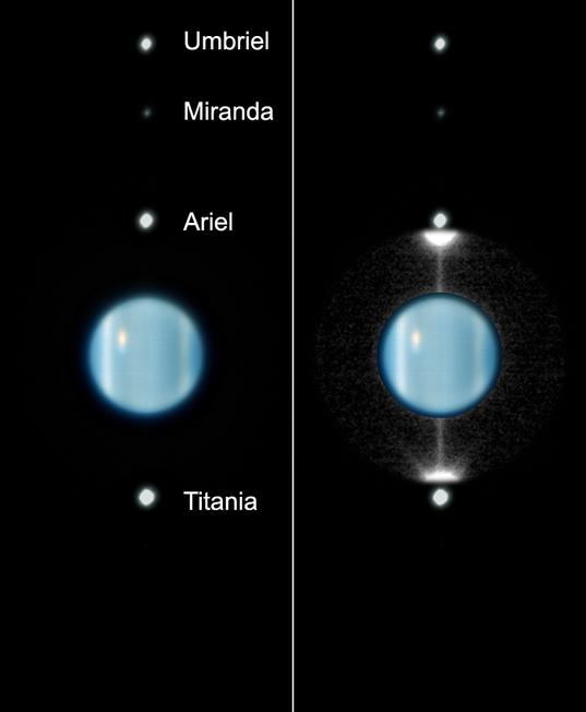 VLT image of Uranus Ring Plane Crossing