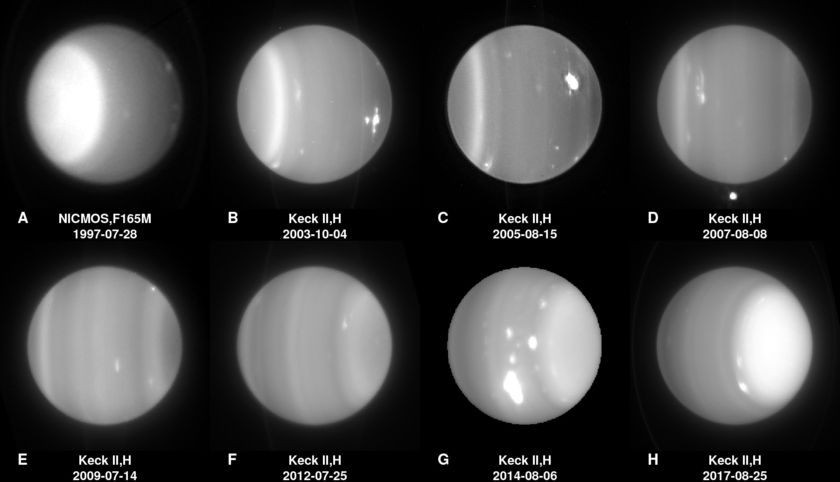 Changes on the face of Uranus