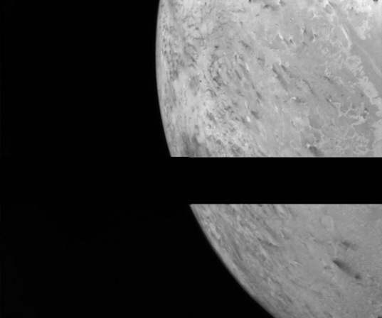 Example of Voyager 2 transmission dropout in an image of Triton