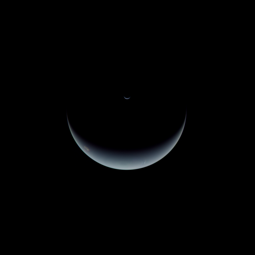Crescent Neptune and Triton