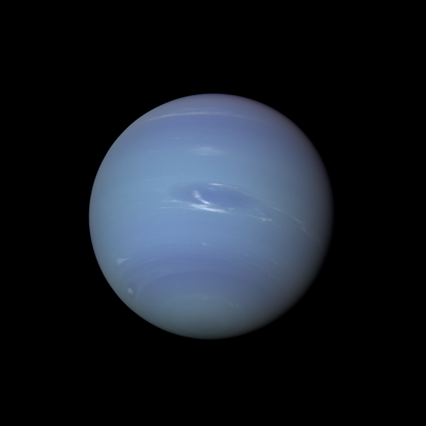 Neptune in natural color from Voyager 2